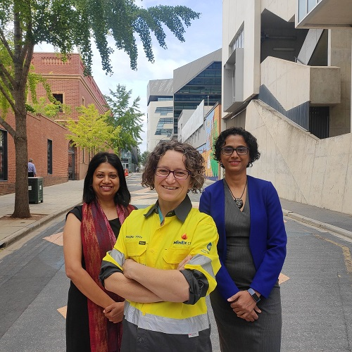 Three UniSA researchers at City West campus