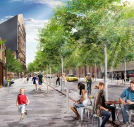 Artist's impression of the new look Hindley Street west