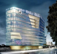Concept drawing of UniSA SCiCEd gallery and Centre for Cancer Biology