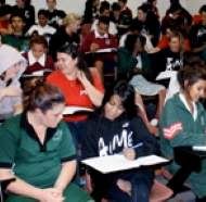 More than 100 UniSA students will mentor Indigenous students from seven high schools in the Northern Adelaide region. Photo courtesy of AIME.