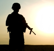 Silhouette of a solider