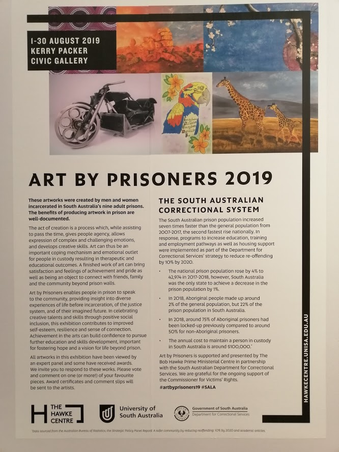 Art by Prisoners exhibition poster