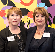 Professor Marie Wilson and Catherine House CEO Linda Matthews.