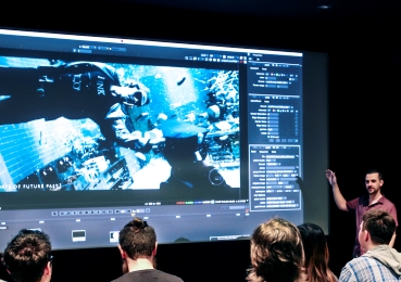 Students learn visual effects techniques on the big screen