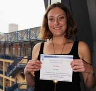 UniSA Three Minute Thesis (3MT) Competition winner Carla Daunton.
