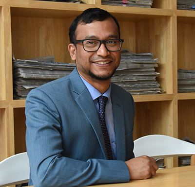 Associate Professor Mizanur Rahman will research soil stability at the Imperial College London.