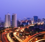 The City of Jakarta at night