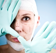 Woman prepared for plastic surgery