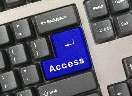 close up of computer keyboard with access key highlighted