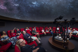 A session in the Adelaide Planetarium at Mawson Lakes Campus
