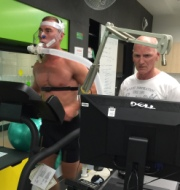 Prof Kevin Norton testing athlete
