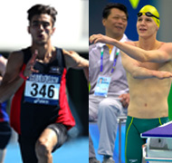 UniSA students Gabriel Cole and Jay Dohnt are set to inspire at the London Paralympics.