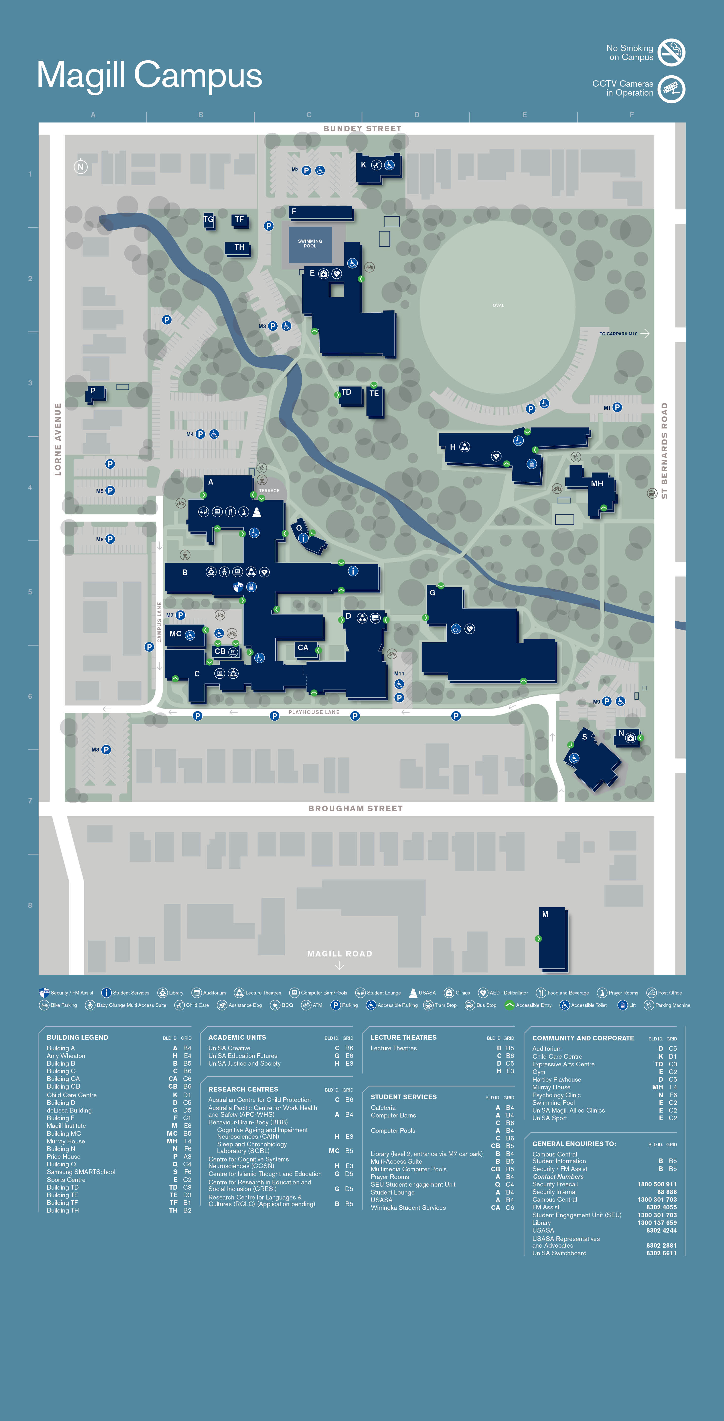 Magill Campus and Access Map