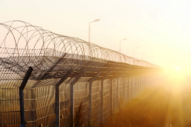Razor wire Fence of a detention centre