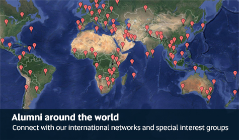 Alumni around the world - Connect with our international networks and special interest groups