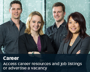 Career - Access career resources and job listings or advertise a vacancy