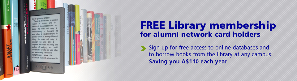 Free Library membership for alumni network card holders