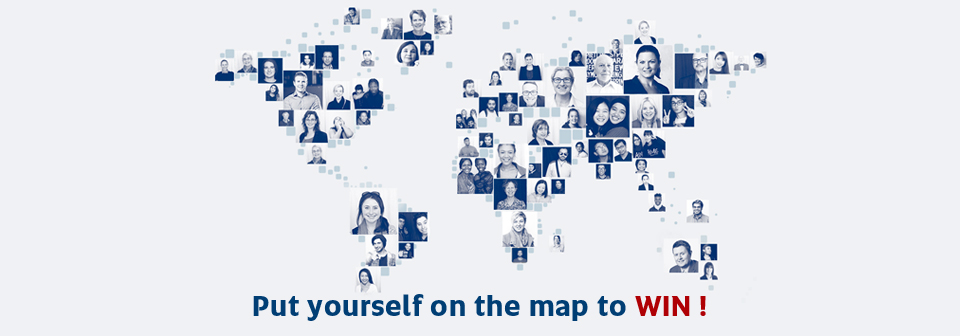 Put yourself on the map to WIN!
