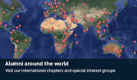Alumni around the world - Visit our international chapters and special interest groups