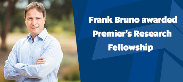 Frank Bruno awarded Premier's Research Fellowship