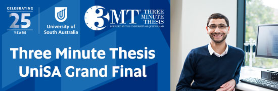 PhD student and 2015 Three Minute Thesis UniSA Grand Final winner. Mahmoud Bassal's winning presentation was 'The Cancer Conundrum'