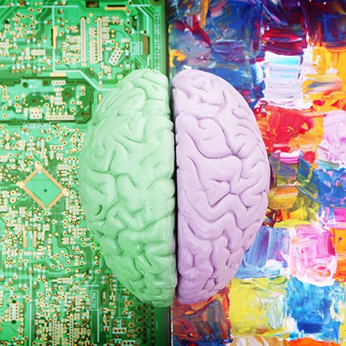 two sides of the brain - science and art