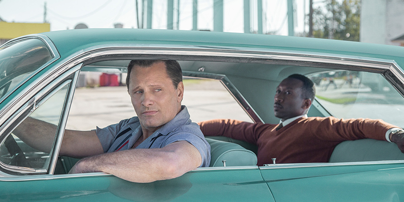 Green Book, starring Viggo Mortensen and Mahershala Ali, won the Oscar for Best Picture.  Mahershala Ali won Best Supporting Actor. Image: Courtesy Universal Pictures