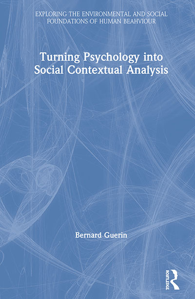 Book cover: Turning Psychology into Social Contextual Analysis