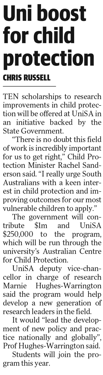 Child protection The Advertiser 10 September 2020